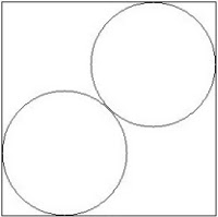 A symbol of two circles side by side